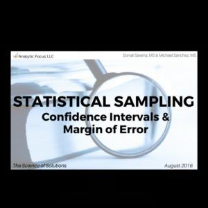 Expert Statistical Sampling